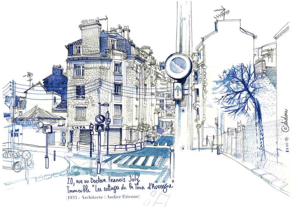 Rennes, rue du Docteur Joly