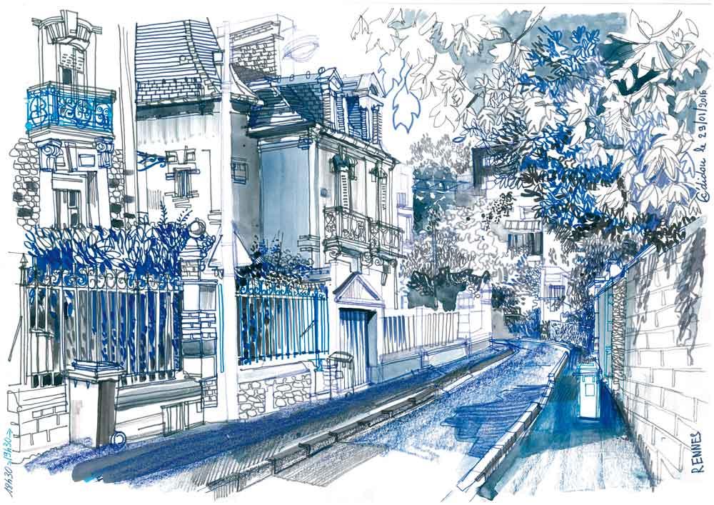 Rennes, rue du Père Janvier.