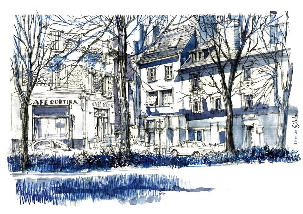 Rennes, rue du Docteur Joly.