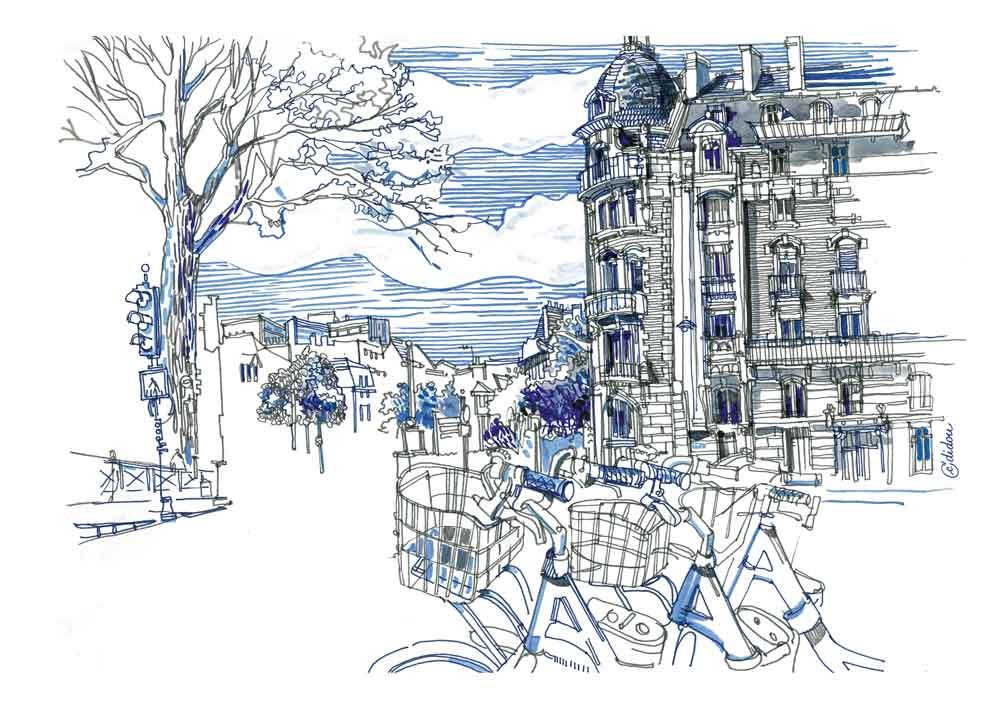 Place de Bretagne. 30x40cm